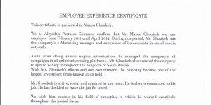 Alryadah Partners - Experience certificate-min