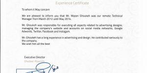 FANDQH - Experience certificate-min